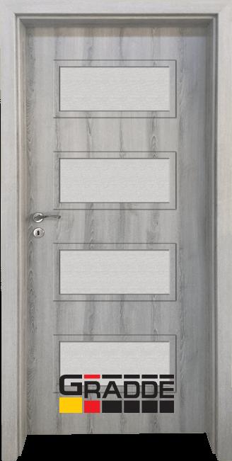 Интериорна HDF врата, модел Gradde Blomendal, Ясен Вералинга