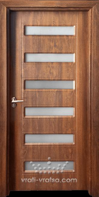 Интериорна врата Гама 207, цвят Златен дъб