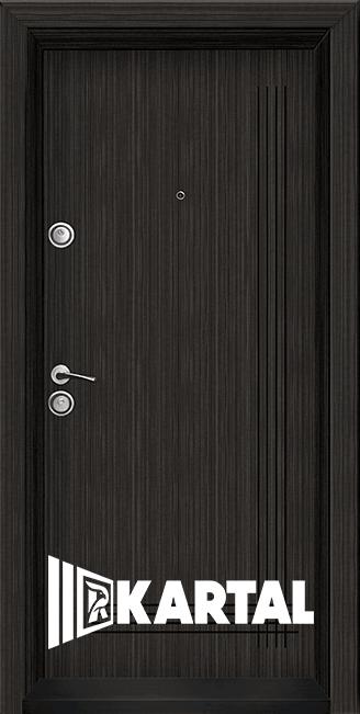 Блиндирана врата Серия Хармония Черна перла, облицована